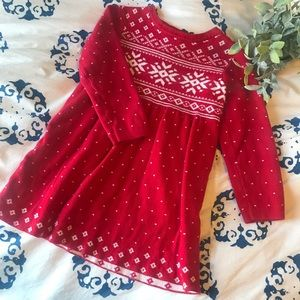 Hanna Andersson Christmas Sweater Dress